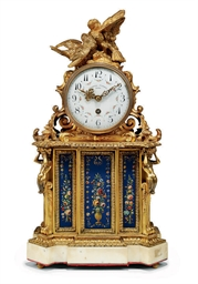 A FRENCH ORMOLU, PAINTED-METAL
