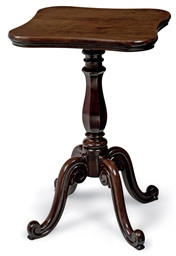A WILLIAM IV MAHOGANY OCCASION