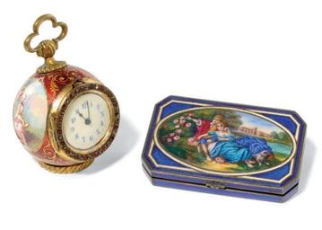 A VIENNA ENAMEL TIMEPIECE