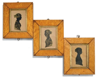 THREE VICTORIAN SILHOUETTES OF