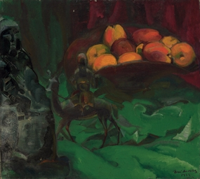 Still life with apples and Chi