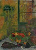 Still life with nasturtiums