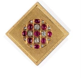 A Jeweled Gold Presentation Pi