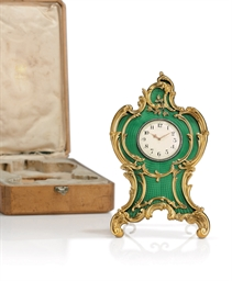 A Silver-Gilt and Guilloché En