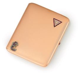A Jeweled Gold Cigarette Case