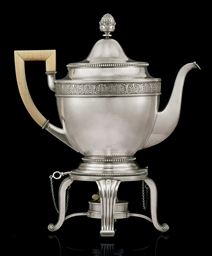 A Silver Tea Kettle-on-Stand**