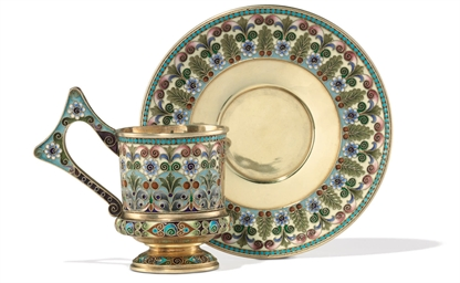 A Silver-Gilt and Cloisonné En