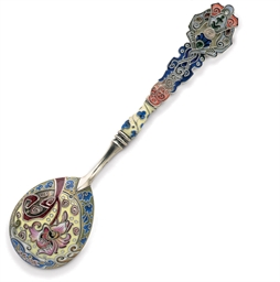 A Silver Cloisonné and Plique-