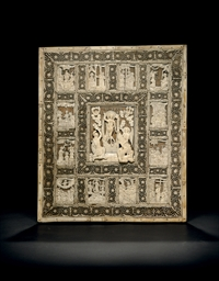 A Carved Ivory Icon of the Res