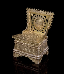 A Silver-Gilt Salt Throne