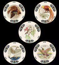 A Set of Ten Porcelain Ornithological Plates