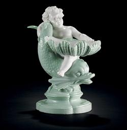 A Porcelain Figural Dish