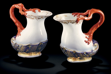 A Pair of Porcelain Jugs