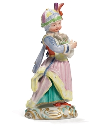 A Porcelain Figure of a Girl