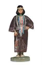 A Porcelain Figure of an Ainu