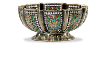 A Silver-Gilt and Plique-à-Jou