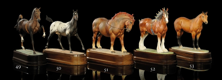 A MODEL OF A 'HACKNEY STALLION