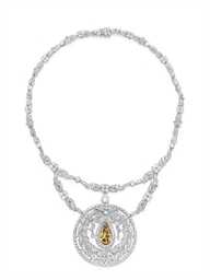 A BELLE EPOQUE COLORED DIAMOND