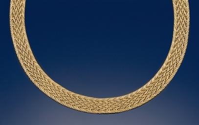 An 18ct. gold necklace, by Car