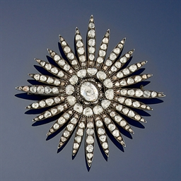 A Turkish diamond brooch