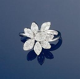 A diamond flowerhead ring