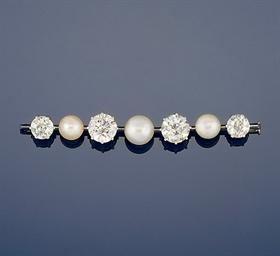 An Edwardian pearl and diamond