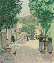 Scène de village en Bretagne
