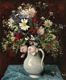 Bouquet au pichet blanc