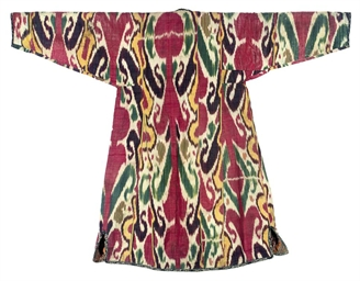 A COTTON AND SILK IKAT CHAPAN