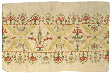 AN EMBROIDERED PANEL, POSSIBLY