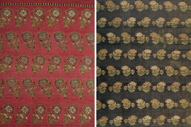 TWO PANELS OF SILK