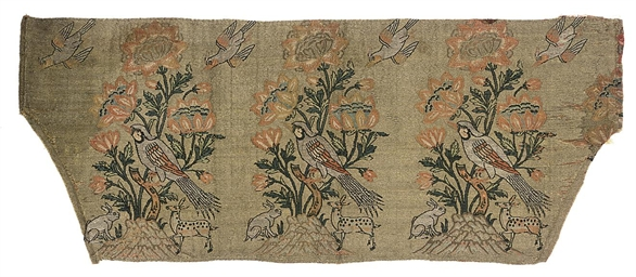 A FRAGMENT OF SILK BROCADE