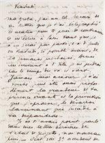 """CHAR, René (1907-1988).  Lettre autographe signée """"R"""" à Greta [Knutson-Tzara]. S.l.n.d. [Vers 1938 ?]. 4 pages (205 x 134 mm) sur un feuillet replié. (Pliures.)"""