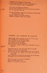 CHAR, René (1907-1988). Dehors