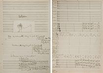 """MILHAUD, Darius (1892-1974). L'Homme et son désir  Symphonie  pour un poème plastique de Paul Claudel [op.48]. Manuscrit musical autographe signé (""""Darius Milhaud""""), la partition pour orchestre, daté """"Rio 15 Janvier 1918 ... Thérésopolis 12 Fevrier 1918  jour du Carnaval"""", avec envoi """"je donne ce manuscrit à Mme Guerra à cause de la belle réduction à quatre mains qu'elle a faite de cette Symphonie et avec toute ma reconnaissance affectueuse  D.M.  Rio. 12 Sept. 1918""""."""