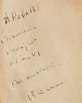 CÉLINE, Louis-Ferdinand Destouches, dit (1894-1961). Voyage au bout de la nuit. Roman. Paris: Éditions Denoël et Steele, 1932.