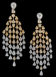 A PAIR OF DRAMATIC DIAMOND AND