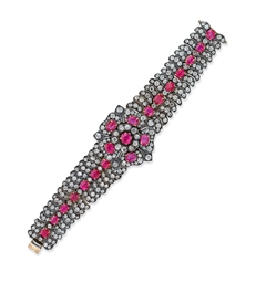 A RUBY AND DIAMOND BRACELET