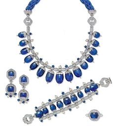 A SUITE OF SAPPHIRE DIAMOND AN