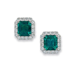 A PAIR OF IMPORTANT EMERALD AN