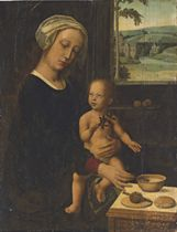 The Holy Virgin and Child with the Milk Soup