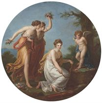 The Punishment of Cupid, in a painted circle