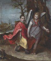 Portrait of a boy, possibly Federico Ubaldo della Rovere (1605-1623), full-length, as Tobias with the Angel