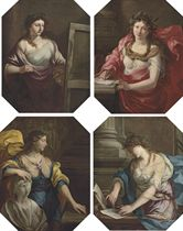 Allegories of the Arts: Painting; Poetry; Sculpture; and Architecture