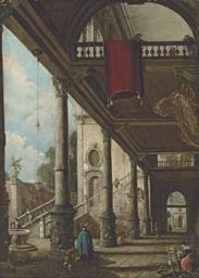 A Venetian capriccio with a po