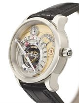 Greubel Forsey. An extremely fine and rare 18K white gold limited edition 3-day double tourbillon wristwatch with power reserve