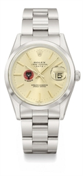 Rolex. A stainless steel automatic wristwatch with sweep centre seconds, date and bracelet