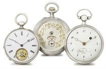 Vaucher Frères, Baur and Anon. A lot of three openface silver watches