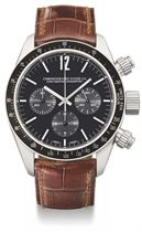 Chronographe Suisse. A large stainless steel automatic chronograph wristwatch