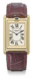 Cartier An 18K gold limited edition rectangular reversible w...